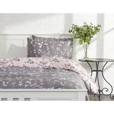 wilko pink and grey ink brush fl double duvet set image 1