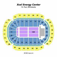 Xcel Energy Concert Seating Chart 62 Qualified Xcel Energy Center Seats