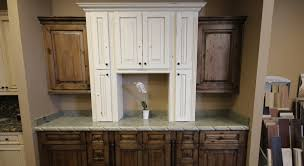 antiqued cabinets