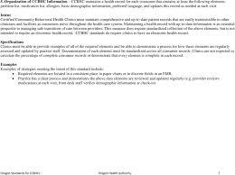 Oregon Standards For Certified Community Behavioral Health
