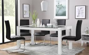 gallery venice white high gloss and gl dining table and 4 chairs set