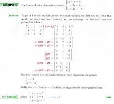 gaussian elimination matrix methods