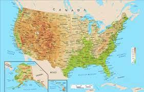 ภูมิศาสตร์ - สหรัฐอเมริกา