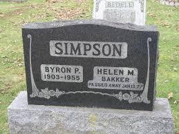 Simpson, Byron (Lundy's Lane Cemetery)   Niagara Falls Canada