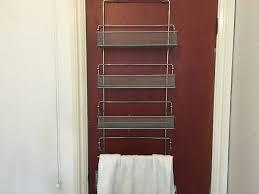 Over Door Bathroom Organiser with towel rail / Storage / Shelves ...