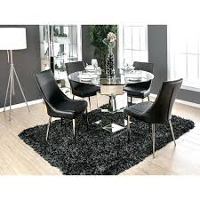 round chrome table furniture of modern chrome geometric round dining table black on free today chrome table legs