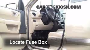 interior fuse box location 2009 2015 honda pilot 2009 honda locate interior fuse box and remove cover