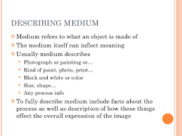 describing artwork describing