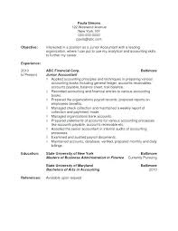Accounting Resume Objective Beauteous Resume Objectives Accounting Letter Resume Directory