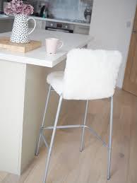 diy faux fur bar stool ikea