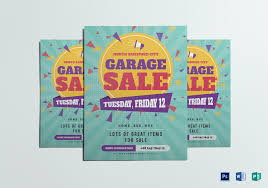 Large Garage Sale Flyer Design Template In Psd Word Publisher
