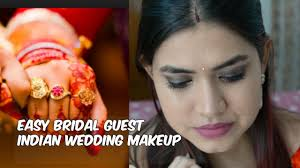 Easy Bridal guest makeup tutorial for beginners Indian wedding guest makeup  tutorial for beginners