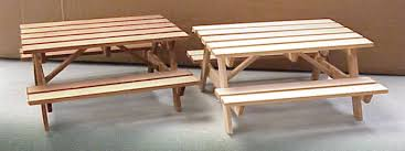 dollhouse outdoor furniture. The Picnic Table Dimensions Are: 5 Inches Long By Top Is 3 1/8\ Dollhouse Outdoor Furniture O