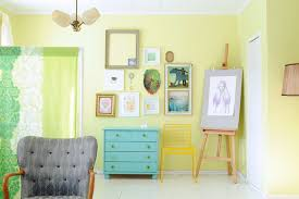 1950s wooden house shabby chic style living room chic yellow living room