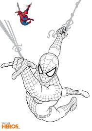 Coloriages Spiderman Imprimer Sur Le Blog De Tlh Coloring