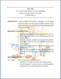 pastry chef resume description chef resume objective