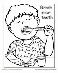 brushing teeth drawing. Unique Brushing Preschool Coloring Worksheets Words To Live By Brush Your Teeth Brushing Drawing T
