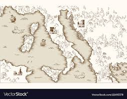 Old Map Of Italy Medieval Cartography