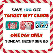 target gift card save 10 on dec 20 only
