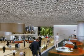 Norman foster office Lobby Norman Foster Founder Of Foster Partners Commented the Deep Plan Interior Spaces Are Naturally Ventilated Through breathing Façade While Top Lit World Architecture Community Foster Partnersdesigned Bloomberg London Office Is Worlds Most