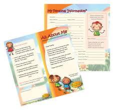 Personal Info Cards 4 1571 All About Me Medical Personal Information Cards English I