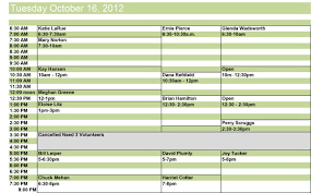 Volunteer Schedule Rome Fontanacountryinn Com