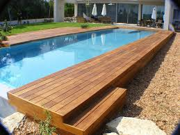 Rectangle Above Ground Pool Swimming Rectangular Infinity With Wooden Perfect Ideas