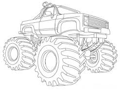 monster truck coloring book pages for when parker finally learns that coloring is fun lol