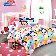 minnie mouse twin bed queen bedding mickey tigers printed comforter set girls bedroom cotton cover kmart