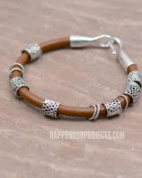 boho bangle diy leather bracelet