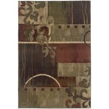 oriental weavers generations 8007a green red area rug