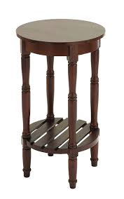 Wooden Side Table Amazoncom Benzara Wood Round Side Table 18 By 18 By 18 Inch