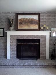 simple remodel brick fireplace