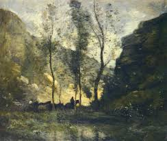 the smugglers camille corot wikiart org landscape painting fine art paintings oil and artist