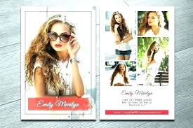 Sample Comp Cards Matter Photography New Online Card
