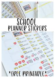 free school planner printables 18 free back to school planner stickers lovely planner