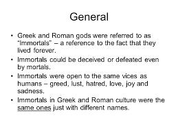 Mythology Notes Greek Vs Roman Gods Ppt Video Online