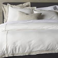 bianca white natural king duvet cover