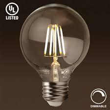 led g25 globe filament light bulb lightbox moreview