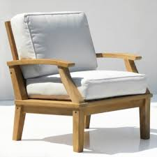 st barts deep seating teak outdoor arm chair with cushions