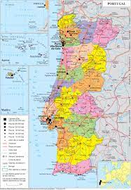 Geopolitical map of Portugal, Portugal maps