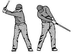 バックスイングは顔を45度右に向けると上体がよく回るゴルフ日刊