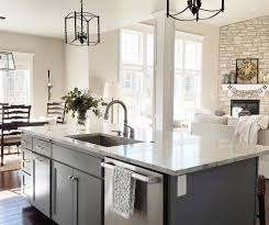 white cottage kitchens. Gray House White Cottage Kitchen Island Gray: The Color Is Sherwin Williams Cityscape Kitchens