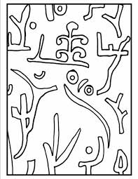 Paul Klee Coloring Pages
