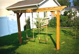 wood swing set kits swing set 5 ways to make your own swing kids building simple wood swing set kits