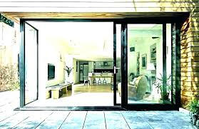 exterior pocket doors with glass panels glas