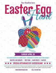 Easter Egg Hunt Flyer Design Template In Word Psd Publisher