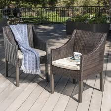 wicker patio dining chairs. Plain Wicker Antioch Outdoor Wicker Dining Chairs With Water Resistant Cushions Set Of  2 For Patio N