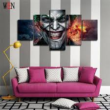 halloween gallery wall decor hallowen walljpg halloween wall pictures for home decor explosion clown poster vintage modern canvas painting art home decoration