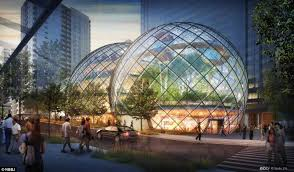 google office in seattle. Amazon\u0027s Plans For A Biosphere Office Resembles Greenhouse Or Conservatory. The Three Intersecting Domes Google In Seattle